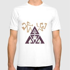 Shelter The Weak Triangles SMALL White Mens Fitted Tee