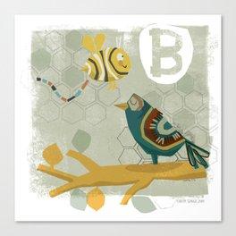 """B"" Canvas Print"
