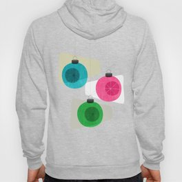Retro Holiday Baubles Hoody
