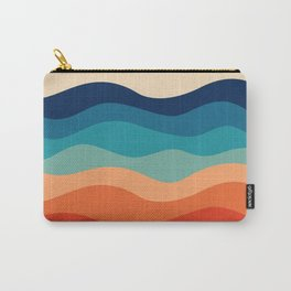 Retro 70s Waves Carry-All Pouch