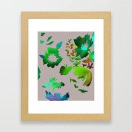 Dark Flora Framed Art Print