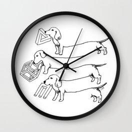 Escher's Other Dogs Wall Clock