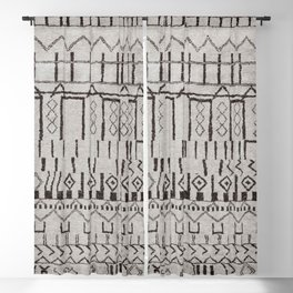 (N7) Original Moroccan Brown Artwork Blackout Curtain