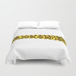 crime scene Duvet Cover