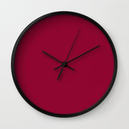 Colors of Autumn Chili Red - Deep Rich Pink Solid Color Wall Clock