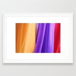 Bright colored Fabric  Framed Art Print