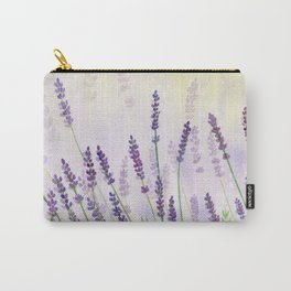 Lavender Flowers Watercolor Carry-All Pouch