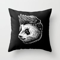 funky Throw Pillows featuring Funky panda by barmalisiRTB