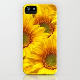 Yellow Mellow Sunflower Bouquet #decor #society6 #buyart iPhone Case