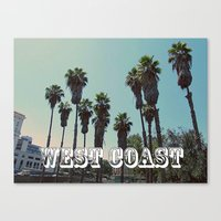 west coast Canvas Prints featuring West Coast by Romeo & Rebeccah