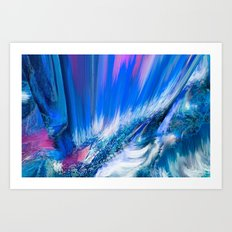 Rapture In Blue   Abstract Art Print