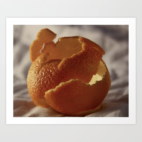 Orange Peel Art Print