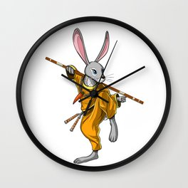 Rabbit Ninja Wall Clock