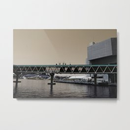 Colorless Bridge Metal Print
