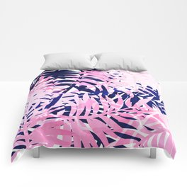 Palm pink & blue Comforters