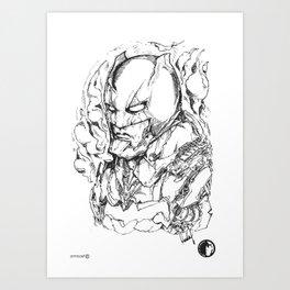 BATFLECK Art Print