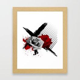 Trash Polka Roses Framed Art Print