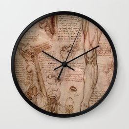 Anatomical Sketches - Leonardo Da Vinci Wall Clock