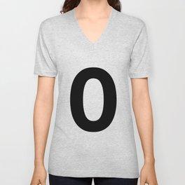 Number 0 (Black & White) Unisex V-Neck