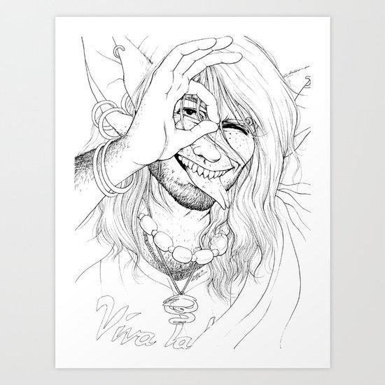 Vivan Los Neones (Black & White) Art Print