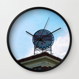 Downtown with Dr Pepper Wall Clock