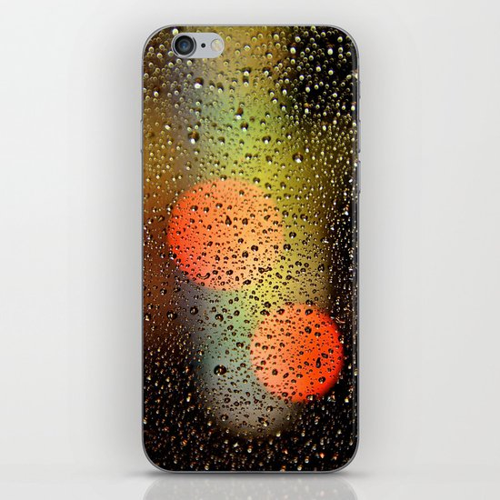 Rain Drops and Color Pops iPhone & iPod Skin