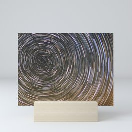Star trails Mini Art Print