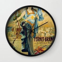 1910 Fernet Branca Liqueur Aperitif Advertisement Wall Clock