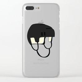 Hockey Helmet Clear iPhone Case