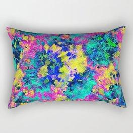 Neon Rave Print Rectangular Pillow