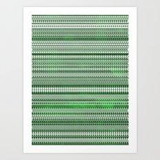 Tribality Green Texture Art Print