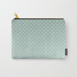 Geometric #turquoise #pattern #monochrome Carry-All Pouch