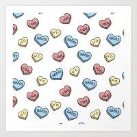 Tart Hearts Art Print