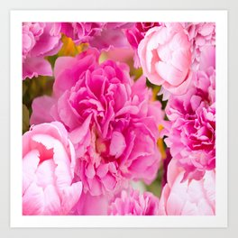 Large Pink Peony Flowers #decor #society6 #buyart Art Print