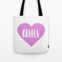 Coffee Heart - Purple Tote Bag