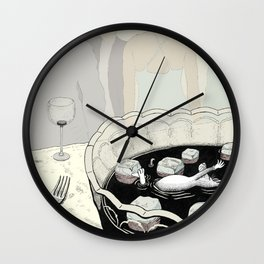 A Rat in a Punch Bowl Wall Clock