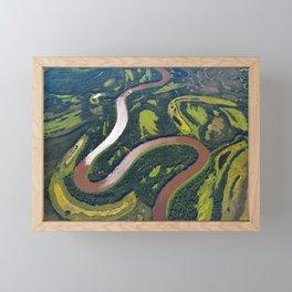 NASA Flies Over Alaska Framed Mini Art Print