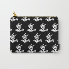 Flying Birds Pattern Black/White Carry-All Pouch