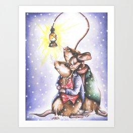 Companions in the Snow Art Print