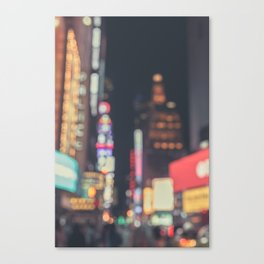 Times Square Abstract Canvas Print