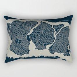 Gotham City Streets Map Rectangular Pillow
