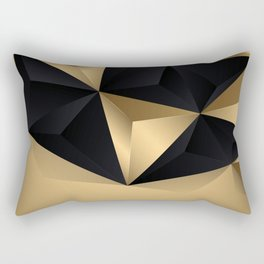 Black And Gold Abstract Design Rectangular Pillow