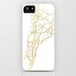 MUMBAI INDIA CITY STREET MAP ART iPhone Case