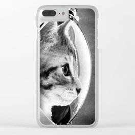 Astronaut Cat #3 Clear iPhone Case