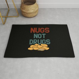 Nugs Not Drugs Funny Chicken Nuggets Rug