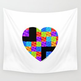 Love Colors The Heart by Sharon Cummings Wall Tapestry