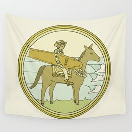 surf legend duke kahanamoku father of surfing // retro surf art by surfy birdy Wall Tapestry