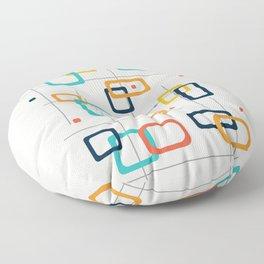 Mid Century Retro Pop Art 016 Floor Pillow