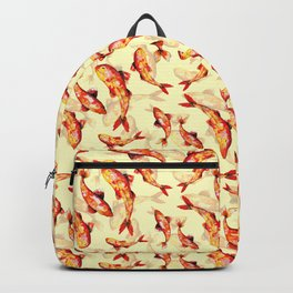 Make a wish on a gold koi fish Backpack