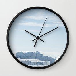 Arctic Icebergs Wall Clock